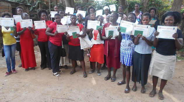 Ladies with certificates
